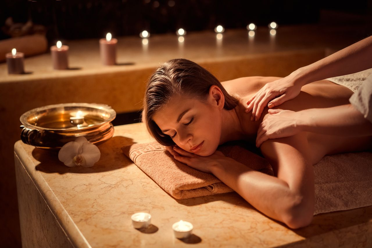массаж в бане